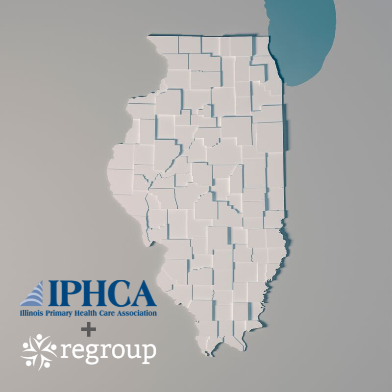 Illinois Primary Health Care Association IPHCA partners with Regroup Telehealth  - State of Illinois Map